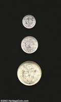 Mexico: , Mexico: Reduced Weight Silver Types: 10, 20 and 50 Centavos 1919,KM429, 436 and 446. All three scarce types are brilliant UNC,with... (Total: 3 coins Item)