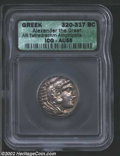 Ancients:Greek, Ancients: Macedon, Kings of. Alexander the Great, 336-323 BC, ARtetradrachm, Amphipolis Mint, 320-317 BC. Head of young Herakles,we...