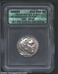 Ancients:Greek, Ancients: Macedon, Kings of. Alexander the Great, 336-323 BC, ARtetradrachm, Corinth Mint, 310-290 BC. Head of young Herakles,weari...