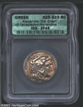 Ancients:Greek, Ancients: Macedon, Kings of. Alexander the Great, 336-323 BC, ARtetradrachm, Myriandros Mint, 325-323 BC. Head of young Herakles,we...