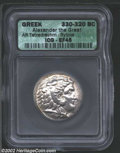 Ancients:Greek, Ancients: Macedon, Kings of. Alexander the Great, 336-323 BC, ARtetradrachm, Byblos Mint, 330-320 BC. Head of young Herakles,wearin...
