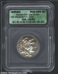 Ancients:Greek, Ancients: Macedon, Kings of. Alexander the Great, 336-323 BC, ARtetradrachm, Tyre Mint, 305-290 BC. Head of young Herakles, wearingl...