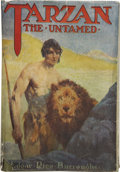 Books:First Editions, Edgar Rice Burroughs. Tarzan the Untamed. Chicago: A. C.McClurg & Co., 1920....