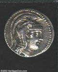 "Ancients:Greek, Ancients: Attica, Athens, Circa 108/07 B.C. AR ""New Style""tetradrachm (16.68 gm.), Helmeted head of Athena right/Owl, onamphora, sta..."
