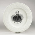 """Political:3D & Other Display (pre-1896), Ulysses S. Grant: Choice """"ABC"""" Portrait Plate..."""