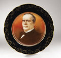 Political:3D & Other Display (1896-present), William McKinley: Spectacular Larger, Signed, Hand Painted PortraitPlate....