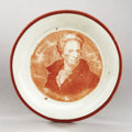 Political:3D & Other Display (pre-1896), Andrew Jackson: Circa 1820s Cup Plate with Enoch Wood Portrait...