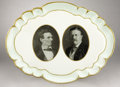 Political:3D & Other Display (1896-present), Theodore Roosevelt: Very Rare Ceramic Platter...