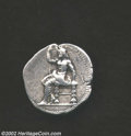 Ancients:Greek, Ancients: The East, Babylon, 311 - 280 BC, AR tetradrachm, (17.1gm.). Baal seated left, holding a sceptre/A lion walking left;above ...