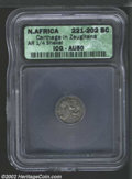 Ancients:Greek, Ancients: Zeugitania, Carthage, ca. 221-202 BC, AR 1/4 shekel.Wreathed head of Tanit left/horse standing right, SNG Cop 335, AU50ICG...
