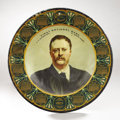 Political:3D & Other Display (1896-present), Theodore Roosevelt:1905 Lithographed Tin Advertising CalendarPlate....