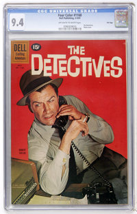 Four Color #1168 The Detectives - File Copy (Dell, 1961) CGC NM 9.4 Off-white to white pages