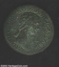 Ancients:Roman, Ancients: Agrippina Senior, Born in 15 BC, Draped bust, right/Rev.Text around large S. C., BMC 219. XF. This coin was struck byCla...