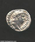 Ancients:Roman, Ancients: Nero, 54-68 A.D., AR denarius (2.68 g), 64/65 A.D.Laureate head right/ Jupiter, holding scepter, thunderbolt, seatedleft. ...