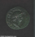 Ancients:Roman, Ancients: Nero, 54-68 AD, AE as, Laureate head right/Victory flyingleft, holding a shield inscribed S.P.Q.R. SR 690 variety, AXFwith...