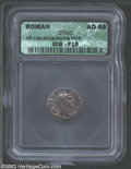 Ancients:Roman, Ancients: Otho, 69 AD, AR denarius, Bare head right/Securitystanding left, holding wreath and sceptre. C. 15. R.I.C. 10. B.M.C.19. F...