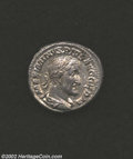 Ancients:Roman, Ancients: Maximinus I, 235-238 A.D., AR denarius (3.72 gm.),Laureate, draped and cuirassed bust right/Victory, holding wreath,palm f...
