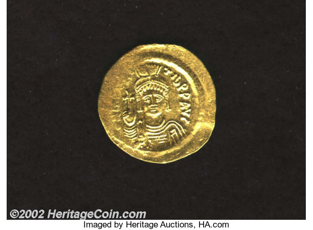 Coins & Paper Money 582-602 Ad Maurice Tiberius Gold Solidus Coin Byzantine Constantinople Xf