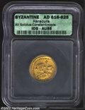Ancients:Byzantine, Ancients: Heraclius, 610-641 A.D., AV solidus, Constantinople mint.Facing busts of Heraclius, l., and Heraclius Constantine, r.,each...