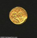 Ancients:Byzantine, Ancients: Heraclius, 610-641 A.D., AV solidus (4.38 gm.),Constantinople mint. Facing busts of Heraclius, l., and HeracliusConstantin...