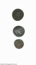 Ancients:Roman, Ancients: Roman Provincial (Greek Imperial), a 3-coin lot includinga presentable Antioch tetradrachm of Augustus. AVF-VF.. Fromthe... (Total: 3 coins Item)