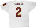 """Football Collectibles:Others, Deion Sanders Signed Jersey. The man known simply as """"Prime Time"""" has provided a pristine silver sharpie signature to the wh..."""