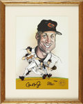 Baseball Collectibles:Others, Cal Ripken, Jr. Signed Limited-Edition Cel. Limited-editionhand-painted cel from illustrator Sam Viviano has the Hall of F...