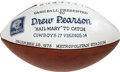 Autographs:Footballs, Drew Pearson Dallas Cowboys Presentation Football. Duplicate copy of the presentation football given to Drew Pearson commem...