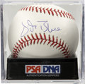 Autographs:Baseballs, Vida Blue Single Signed Baseball, PSA Mint 9. Ace hurler Vida Bluewas one of the hardest-throwing leftys in the history of ...