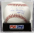 "Autographs:Baseballs, Don Sutton ""HOF 98"" Single Signed Baseball, PSA Gem Mint 10. Onthis sparkling single Don Sutton signs and inscribes his Hal..."