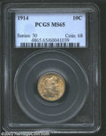 Barber Dimes: , 1914 10C MS65 PCGS. The current Coin Dealer Newsletter (...