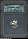 Proof Roosevelt Dimes: , 2000-S 10C Silver PR 69 Deep Cameo ICG. ...