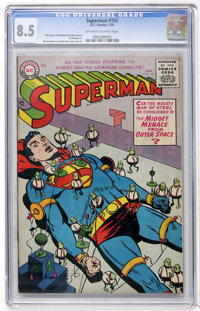 Superman #102 (DC, 1956) CGC VF+ 8.5 Off-white to white pages