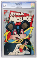 Silver Age (1956-1969):Humor, Atomic Mouse #21 (Charlton, 1957) CGC NM 9.4 Off-white to white pages....