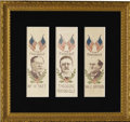 Political:Ribbons & Badges, Theodore Roosevelt, William Howard Taft, William Jennings Bryan Political Campaign Ribbons for the Election of 1912....