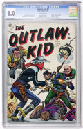 Golden Age (1938-1955):Western, Outlaw Kid #1 (Atlas, 1954) CGC VF 8.0 Off-white pages....