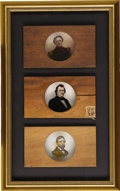 Political:Miscellaneous Political, Civil War Magic Lantern Slides: Andrew Johnson, General Winfield Scott, and House Speaker and Future Vice President Schuyler C...