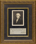 Autographs:U.S. Presidents, Thomas Jefferson: Rare Personal Check Signed as President. ...