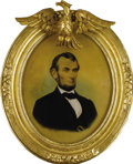 Political:3D & Other Display (pre-1896), Abraham Lincoln: Rare Large Contemporary Beeswax Portrait....