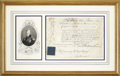 Royal Memorabilia, Signed Document from King William IV. The document on parchment,signed by William IV, King of Great Britain, (r. 1830-183...