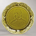 Political:3D & Other Display (pre-1896), Grover Cleveland: Campaign Plate....