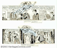 Wayne Boring - Original Comic Strip Art for Superman (1964-1965). Up, up and away! Two high-flying examples from the Man...
