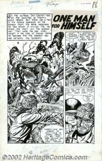 "John Celardo - Original Art for This is War #7, Complete 7-page story ""One Man for Himself"" (Standard, 1952)..."