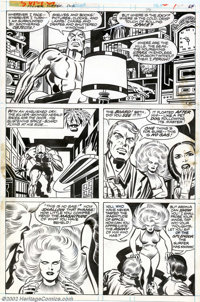 Jack Kirby and Joe Sinnott - Original Art for The Silver Surfer Graphic Novel, page 64 (Marvel, 1978). This lovely drama...