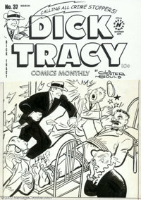 Unknown Artist - Original Cover Art for Dick Tracy #37 (Harvey, 1951). Fred Wertham would have loved this bondage / tort...