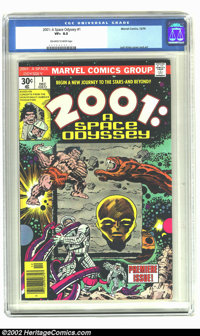 2001: A Space Odyssey #1 (Marvel, 1976) CGC VF+ 8.5 Off-white to white pages. Jack Kirby cover and art. Overstreet 2002...
