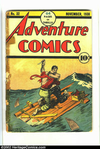 Adventure Comics #32 (DC, 1938) Condition: FR. This is the very first issue. It looks like this book was part of a bound...