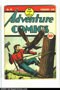 Golden Age (1938-1955):Adventure, Adventure Comics #35 (DC, 1939) Condition: GD+. Off-white pages. This is a very presentable looking copy that has two dime-s...
