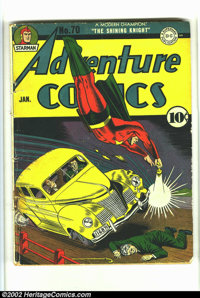 Adventure Comics #70 (DC, 1942) Condition: G/VG. Off-white pages. The cover is detached from the bottom staple, and almo...