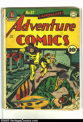 Golden Age (1938-1955):Superhero, Adventure Comics #87 (DC, 1943) Condition: GD. Staple probably replaced. 2 centerfolds detached. Overstreet 2002 GD 2.0 valu...